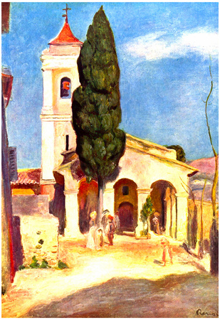 Pierre-Auguste Renoir (Church in Cagnes) Art Poster Print Posters