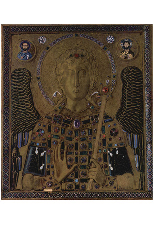Masters of the icon of Archangel Michael (Archangel Michael) Art Poster Print Posters
