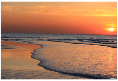 Ocean Sunset (Beach) Art Poster Print Affiches