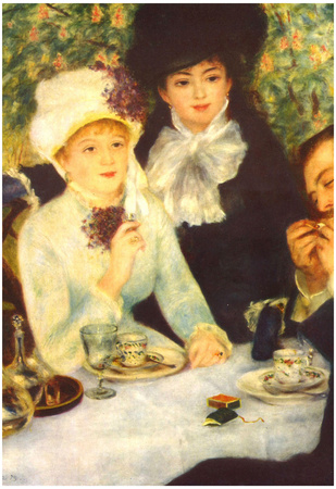 Pierre-Auguste Renoir (The end of the breakfast) Art Poster Print Poster