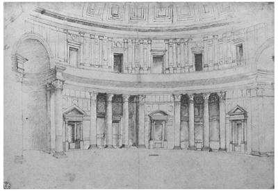 Raffael (Interior of the Pantheon in Rome) Art Poster Print Photo