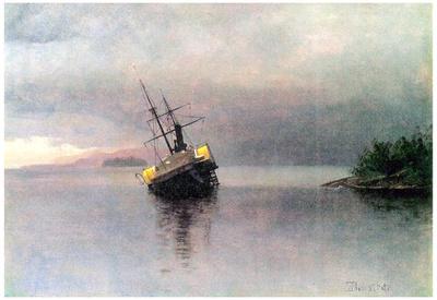 Albert Bierstadt Shipwreck in Loring bay Alaska Art Print Poster Prints!
