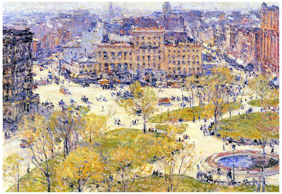 Childe Hassam Union Square in Spring Art Print Poster Photo