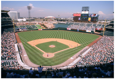 Angel Stadium Anaheim Color Archival Photo Sports Poster Posters