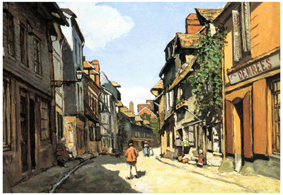 Claude Monet Street of Bavolle Art Print Poster Posters