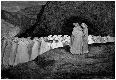 "Gustave Doré (Illustration to Dante's ""Divine Comedy,"" Inferno - Hypocrasy) Art Poster Print Prints"
