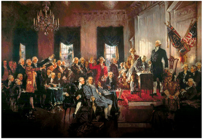 Howard Chandler Christy Scene at the Signing of the Constitution Art Poster Print Prints