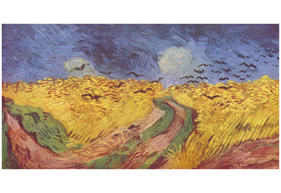 Vincent Van Gogh (Corn field with Ravens) Art Poster Print Poster