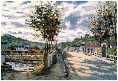 Claude Monet The Seine at Bougival Art Print Poster Posters
