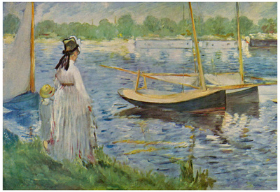 Edouard Manet (Banks of the Seine at Argenteuil) Art Poster Print Poster