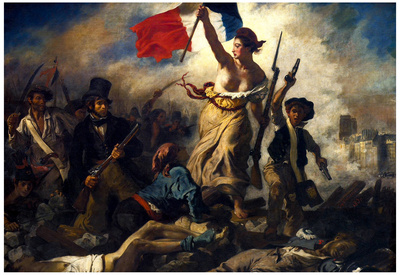 Eugene Ferdinand Victor Delacroix (Liberty Leading the People) Art Poster Print Prints