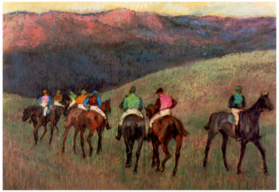 Edgar Degas Jockeys in Training Art Print Poster Poster