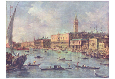Francesco Guardi (Palazzo Ducale in Venice) Art Poster Print Prints