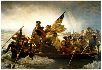 Emanuel Leutze Washington Crossing the Delaware River Art Print Poster Prints