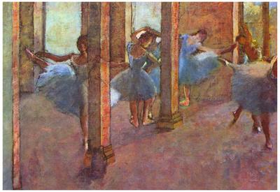 Edgar Germain Hilaire Degas (Dancers in the foyer) Art Poster Print Posters