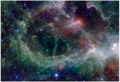 Heart nebula Cassiopeia constellation outer space enhanced astronomy cosmo photo poster