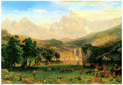 Albert Bierstadt Rocky Montains at Lander's Peak Art Print Poster Prints