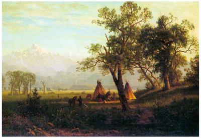 Albert Bierstadt Wind River Mountains in Nebraska Art Print Poster Posters