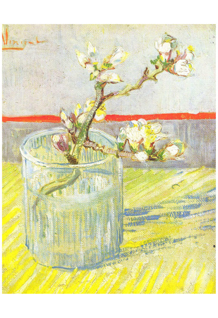 Vincent Van Gogh (Almond blossom branches) Art Poster Print Posters