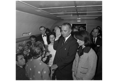 Lyndon B Johnson (Taking Oath of Office) Art Poster Print Poster