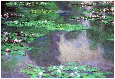 Claude Monet Water-Lilies Landscape Art Print Poster Prints