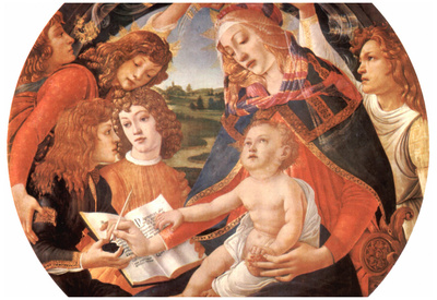 Sandro Botticelli Maria with Christ Child and Five Angels Art Print Poster Prints