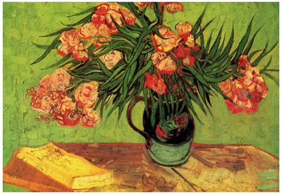 Vincent Van Gogh Still Life Vase with Oleanders and Books Art Print Poster Print