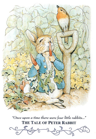 Peter Rabbit literary Art print for classrooms