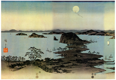 Utagawa Hiroshige Seascape Art Print Poster Poster
