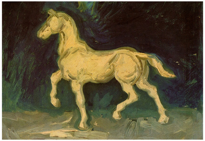Vincent Van Gogh Plaster Statuette of a Horse Art Print Poster Posters