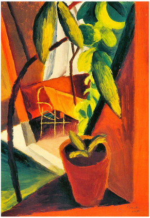 August Macke A Look Into Summer-House Art Print Poster Posters