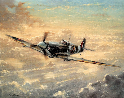 RAF Spitfire WW II Art Print POSTER Battle Britain UK Affischer