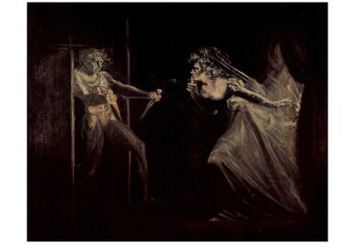 Johann Heinrich Fussli (Lady Macbeth takes the daggers opposite) Art Poster Print Posters