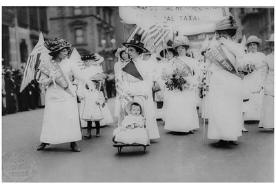 Suffrage Parade (New York City, 1912) Art Poster Print Poster