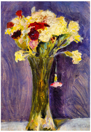 August Macke Carnations in a Green Vase Art Print Poster Posters