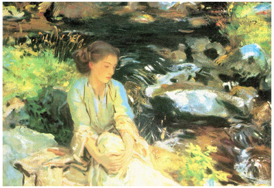John Singer Sargent The Black Creek Art Print Poster Poster