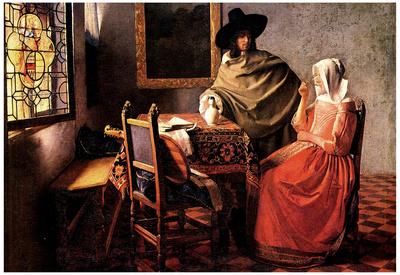 Johannes Vermeer Glass of Wine Art Print Poster Posters