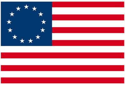 American Colonial National Flag Poster Print Planscher
