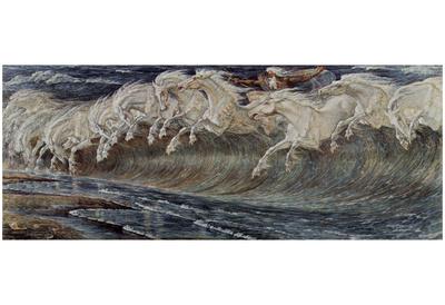 Walter Crane (Neptune's Horses) Art Poster Print Posters