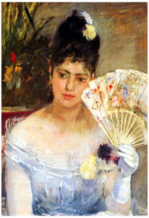 Berthe Morisot At the Ball Art Print Poster Posters
