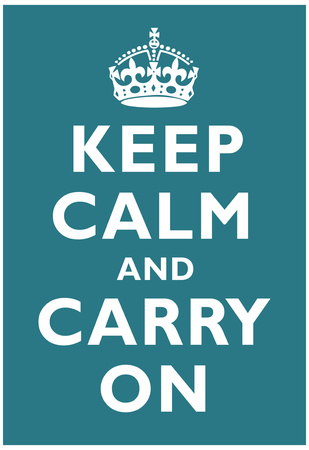 Keep Calm and Carry On Peacock Art Print Poster Prints