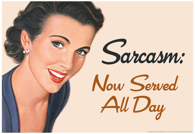 Sarcasm Now Served All Day Funny Poster Posters