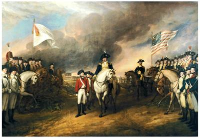 John Trumbull Surrender of Lord Cornwallis Art Print Poster Posters