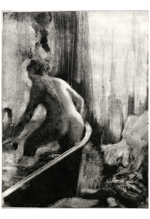 Edgar Germain Hilaire Degas (Woman in a bathtub, the back piece) Art Poster Print Posters
