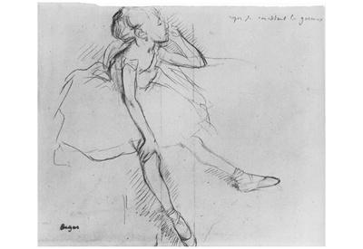 Edgar Germain Hilaire Degas (Little Dancer, relax) Art Poster Print Posters