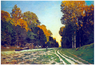 Claude Monet The Road from Chailly to Fontainebleau Art Print Poster Prints