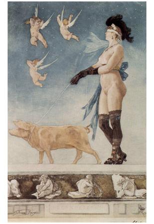 Felicien Rops (Pornocrates) Art Poster Print Poster