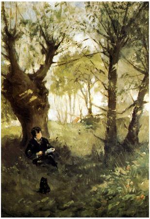Berthe Morisot Scene in Auvers Art Print Poster Print