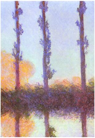 Claude Monet Poplars Art Print Poster Prints