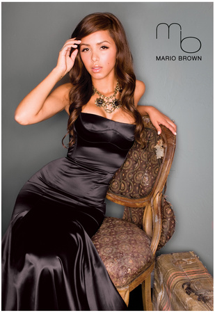 Karla Luna Black Silk Dress Photo Poster By Mario Brown Posters